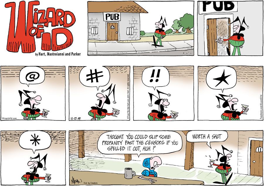 Wizard of Id for November 17, 2019