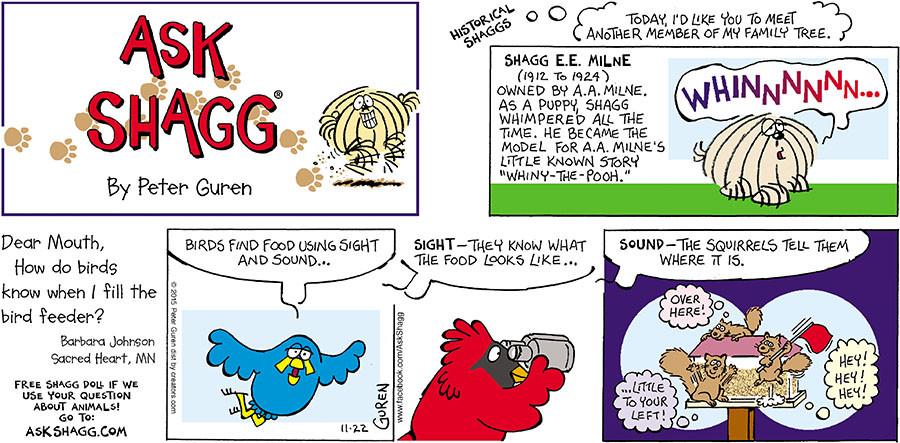 Ask Shagg for Nov 22, 2015