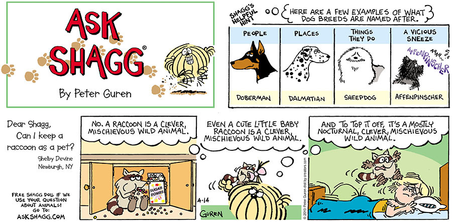 Ask Shagg for Apr 14, 2019