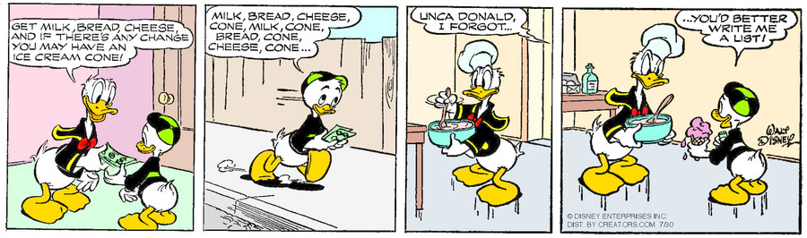 Donald Duck for Jul 30, 2015