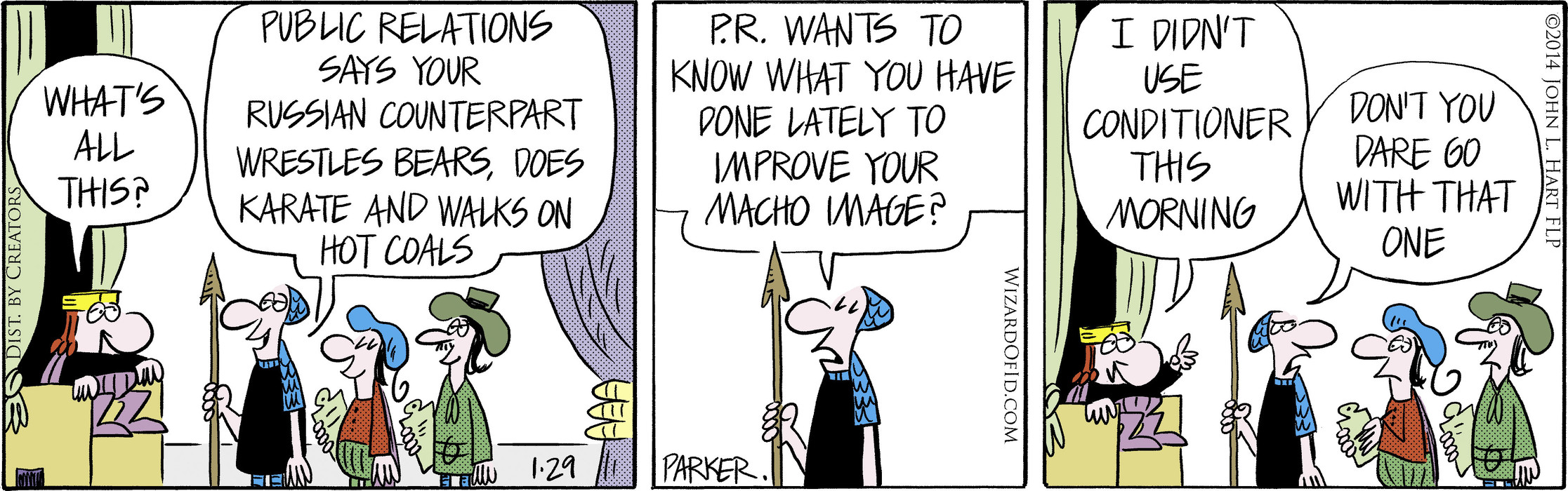 Wizard of Id for Jan 29, 2014