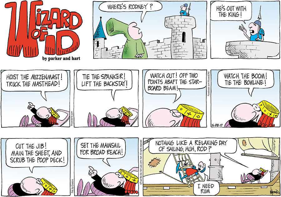 Wizard of Id for May 28, 2017