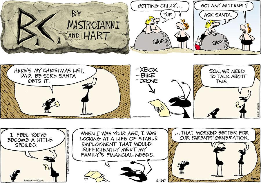 Bc christmas comic strip