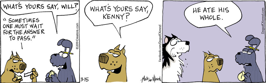 Dogs of C-Kennel for Mar 15, 2019
