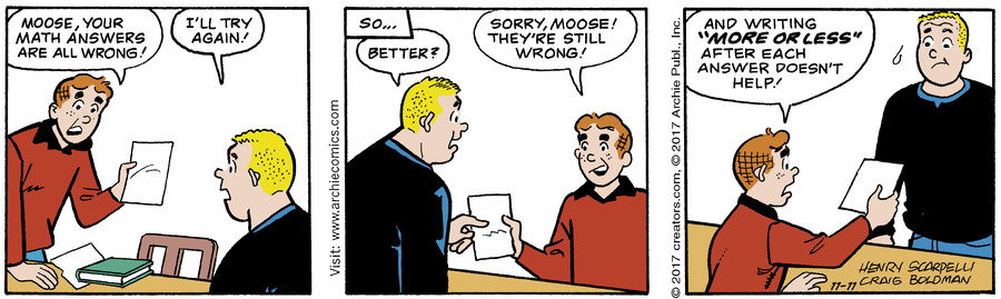 Archie for Nov 11, 2017