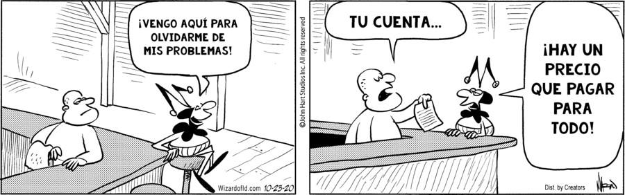 Wizard of Id Spanish for Oct 23, 2020