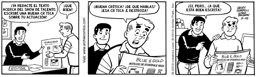 Archie Spanish for Mar 15, 2019
