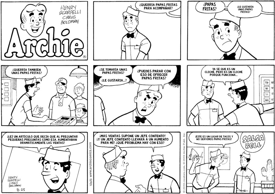 Archie Spanish for Aug 25, 2019