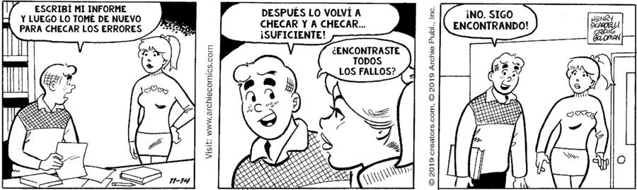 Archie Spanish for Nov 14, 2019