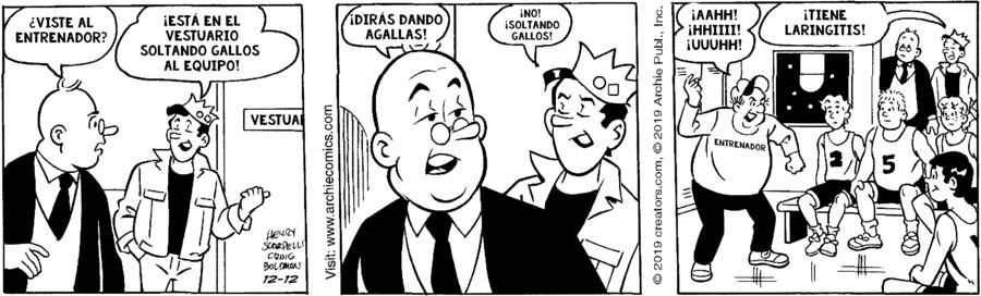 Archie Spanish for Dec 12, 2019
