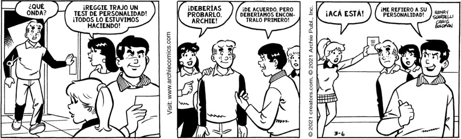 Archie Spanish for Mar 06, 2021