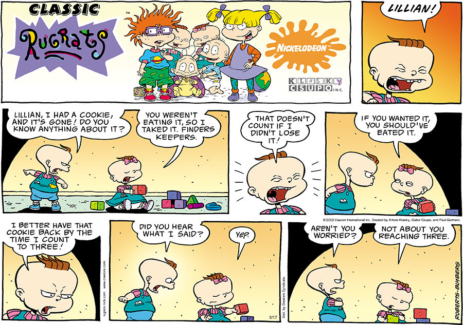 Rugrats for Mar 17, 2019